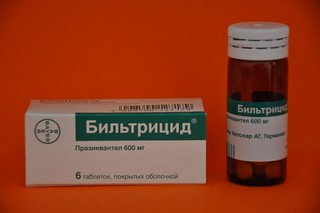 Препарат Бильтрицид оказывает парализующее действие на гельминтов