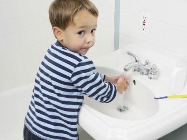 Приучайте ребенка мыть руки после контакта с животными