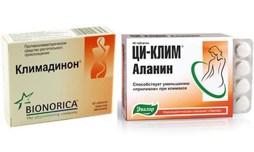 Врачи часто рекомендуют для облегчения состояния при менопаузе использовать Циклим или Климадинон