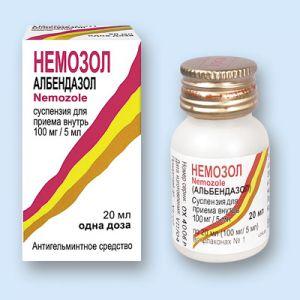 Немозол, он же Альбендазол помогает при глистных инвазиях
