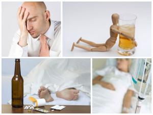 2. Абстинентного синдрома при алкоголизме.