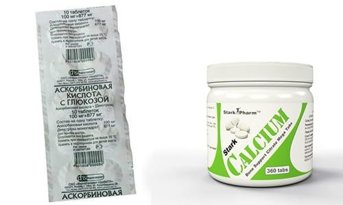 Аскорбиновая кислота и кальций - комбинация препаратов, предупреждающая развитие системных заболеваний позвоночника