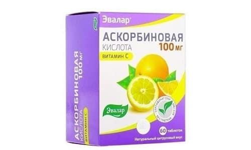 Шипучие таблетки Аскорбиновой кислоты содержат 0,18 г витамина С и 0,5 г карбоната кальция