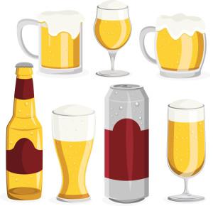 Различные емкости с пивом