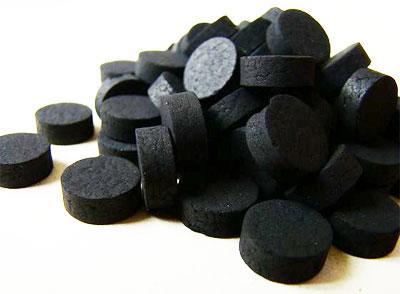 Уголь активированный, один из самых распространенных энтеросорбентов
