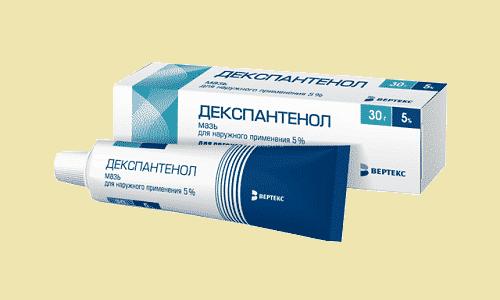 Декспантенол производится в форме крема, в котором, помимо декспантенола, присутствует а-токоферилацетат