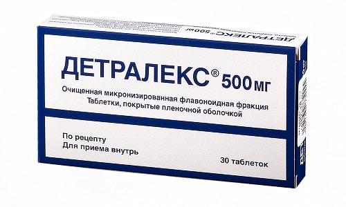 Детралекс применяется в качестве компонента комплексной терапии при варикозе и геморрое