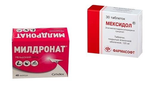 Мексидол и Милдронат обладают способностью улучшать снабжение клеток тканей кислородом и улучшать кровоснабжение