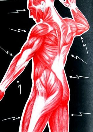 Вначале человека сопровождают мышечные боли