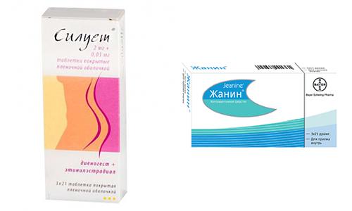 Сейчас на фармацевтическом рынке представлено множество препаратов, направленных на предохранение от нежелательной беременности среди них Жанин и Силуэт
