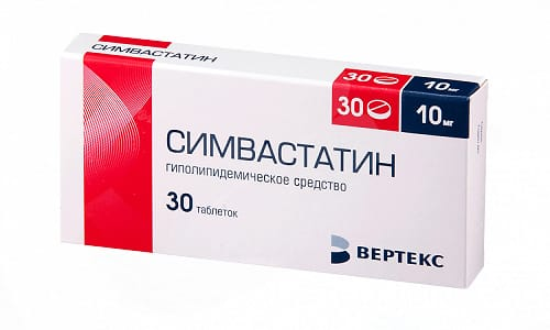 Симвастатин снижает уровень холестерина в кровяной сыворотке на 30-38%