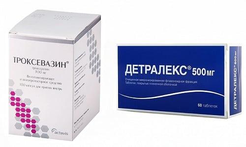 Чтобы избежать развития осложнений при варикозе, рекомендуется использовать Троксевазин или Гепариновую мазь