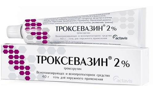 Троксевазин используют для лечения проявлений венозной недостаточности